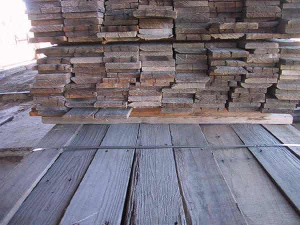 Gray Redwood 1 by 6 Barn Wood
