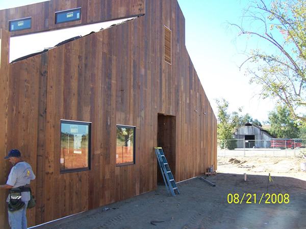 San Joaquin River Parkway Barn with recreated Old Look Barnwood Siding