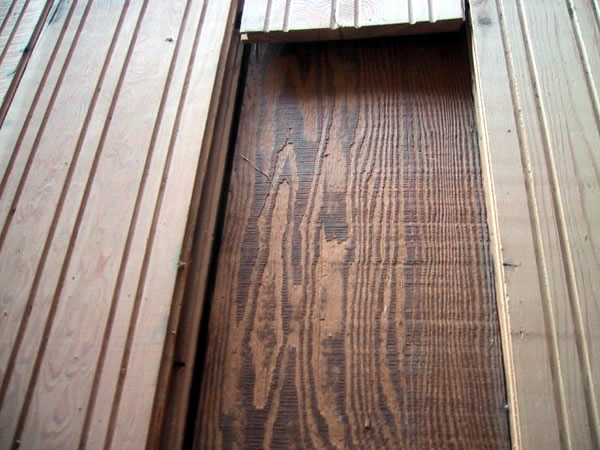 Recreated Barn Wood Siding Wire Brushed Tongue and Groove Doug Fir