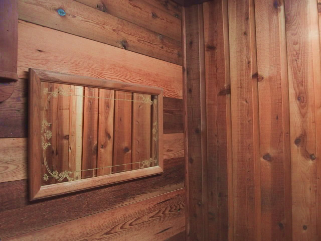 Channel rustic ponderosa pine interior recycled lumber for Recycled wood siding